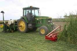 Soil Conservation Practices No-till farming- crops are