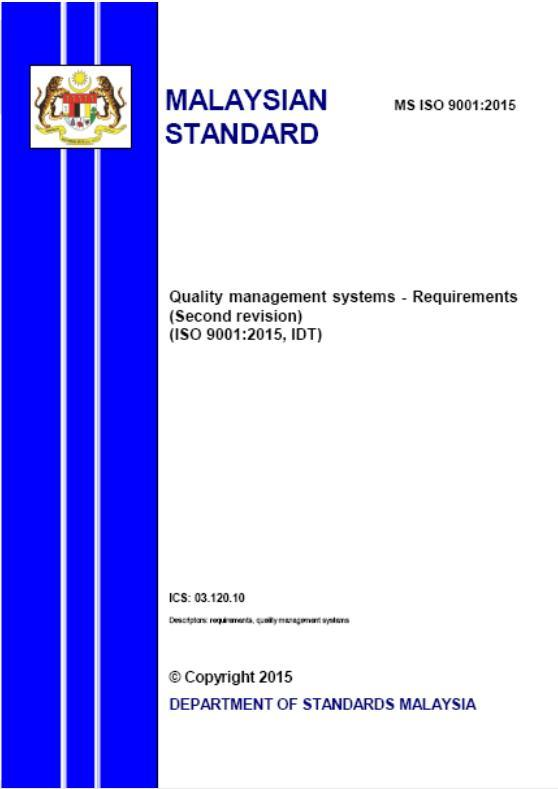 Structure of ISO 9001:2015 (3/3) 9 Performance evaluation 9.1 Monitoring, measurement, analysis and evaluation 9.