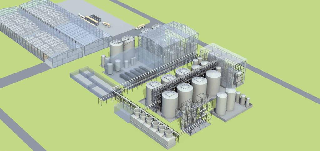 Complete turnkey process FOR UP TO 150,000 TONS OF CELLULOSIC ETHANOL PER YEAR The sunliquid process is now fully developed, being designed for industrial plants with a production capacity of 50,000