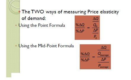 Technology State of nature Week 3 & 4 Elasticity Price elasticity of demand The Price elasticity of demand is a units free measure of the responsiveness of the quantity demanded of a good to a change