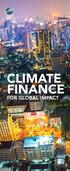 CLIMATE FINANCE FOR GLOBAL IMPACT